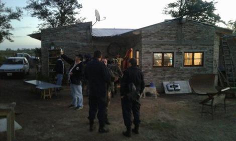 Policia de villarino en operativo